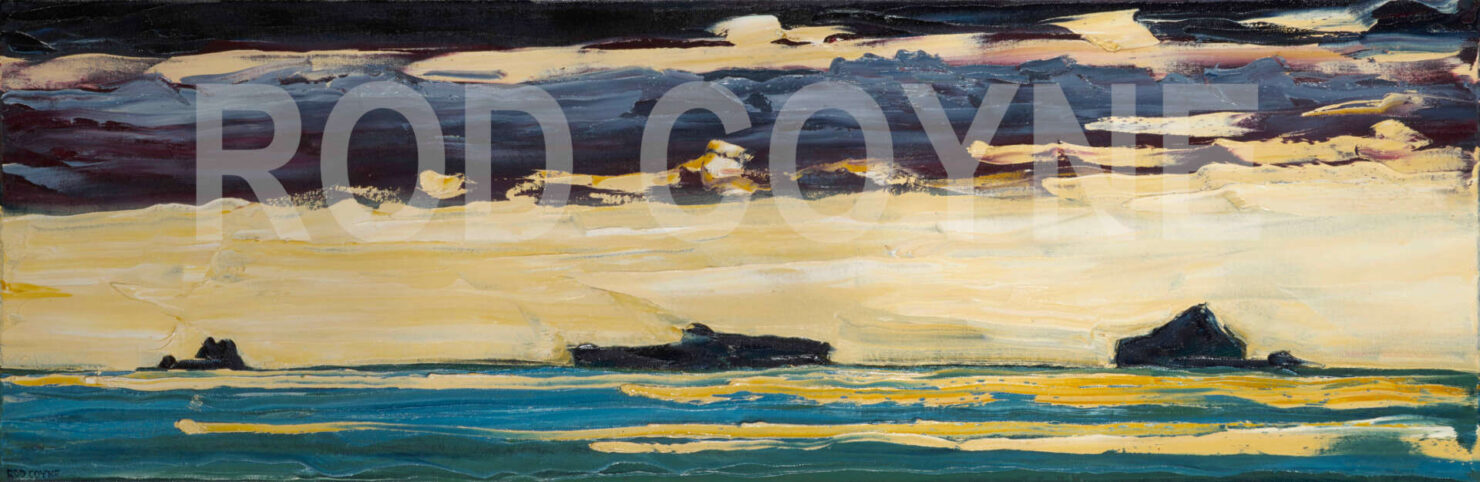 "artist rod coyne's landscape ""Atlantic Islands"" is shown herewatermarked."
