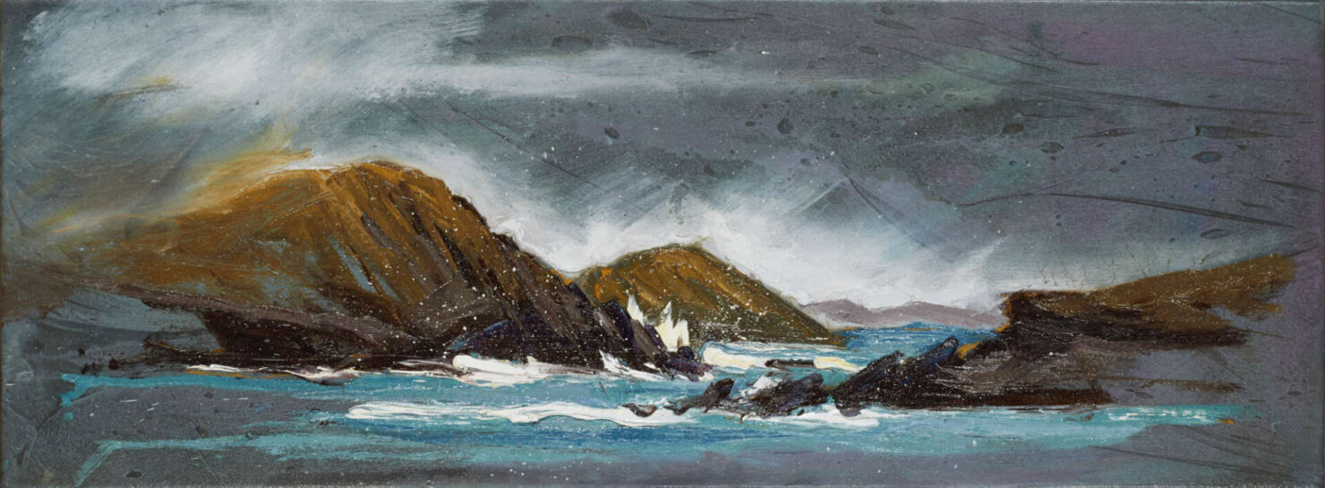 """artist rod coyne's seascape """"Lady's Ruff Weather"""" is shown here."""