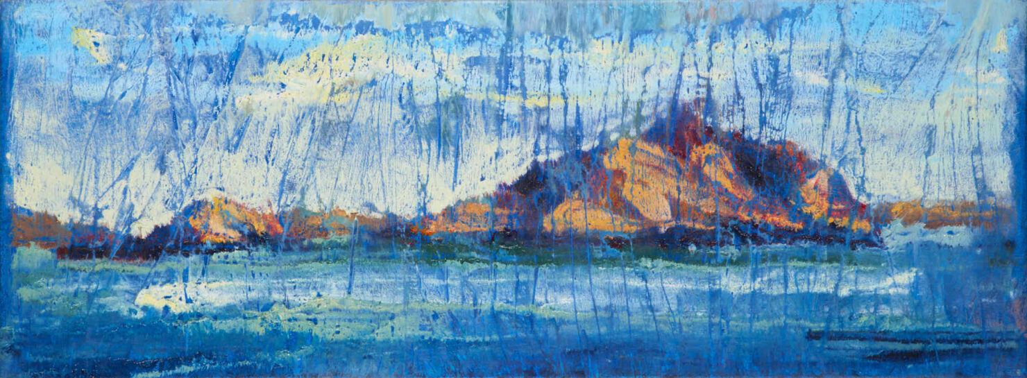 """artist rod coyne's landscape """"Island Interference"""" is shown here."""