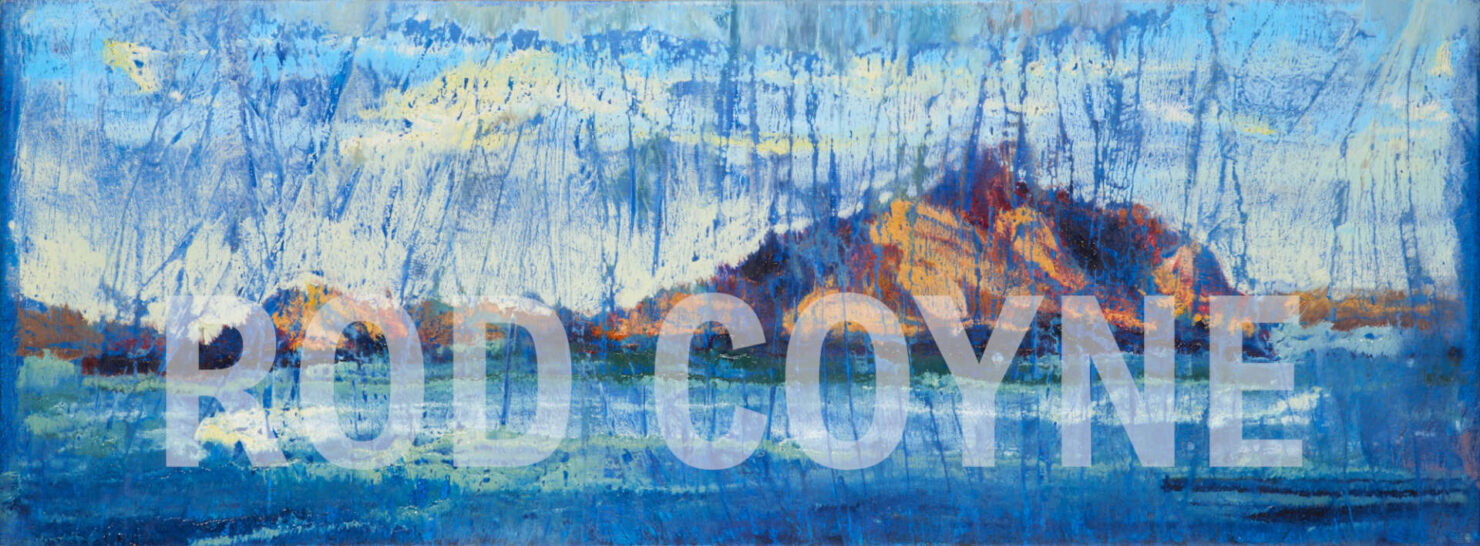"""artist rod coyne's landscape """"Island Interference"""" is shown here watermarked."""